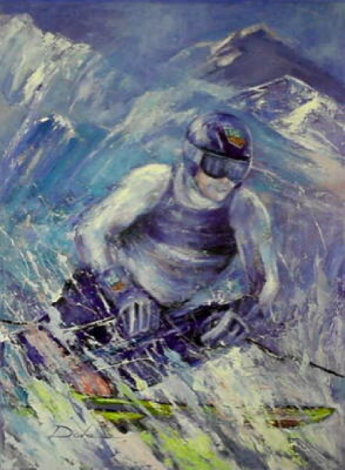 oil painting wintersports image